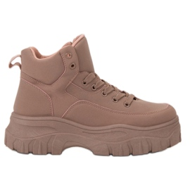 Kylie Laced Fodtøj På Platformen pink