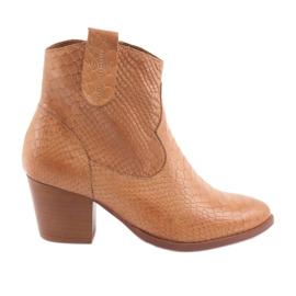 Anabelle 1466 Camel Croko kvinders støvler brun
