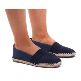 Openwork Espadrilles Sneakers 188-38 Navy Blue