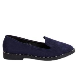 N90 blå marineblå lords loafers navy