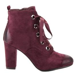 Vinceza rød Bourgogne ruskindstøvler
