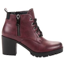 Vinceza rød Lave ankelstøvler
