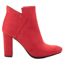 Vinceza rød Sexede ruskindstøvler