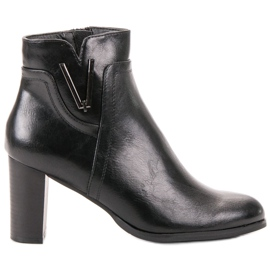 Vinceza Sort Ankelstøvler