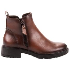 Vinceza Low Ankel Boots brun