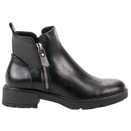 Vinceza Low Ankel Boots sort
