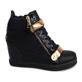 Wedge Sneakers Sheet A89 Black sort