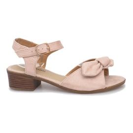 Brun Noemia høje hæle sandaler