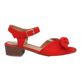 Røde Noemia høje hæle sandaler