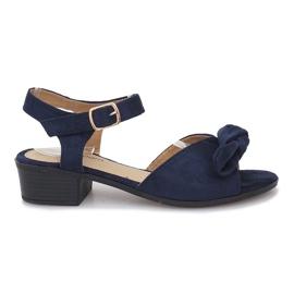 Navy Noemia mørkeblå højhælede sandaler