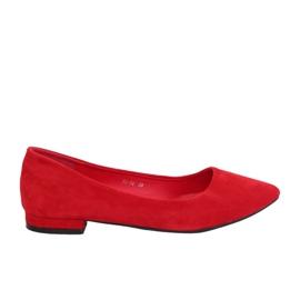 Ballerinaer med mandeltåer rød RC-76 rød
