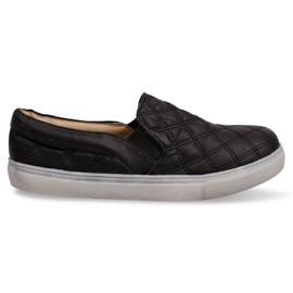 Slip-on quiltede sneakers Slip On 9033 Black sort