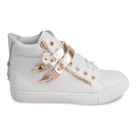 Høj sneakers med glider 1525-2 hvid