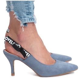 Blå sandaler Elsker Paris