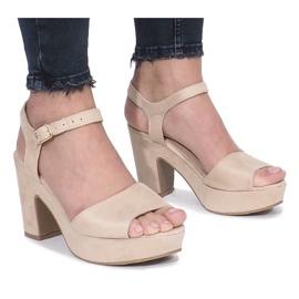 Brun Beige Boiset-stolpe sandaler