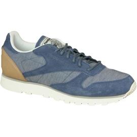 Blå Reebok Cl Læder Fleck M AQ9722 sko