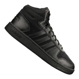 Sort Adidas Hoops 2.0 Mid M B44649 sko