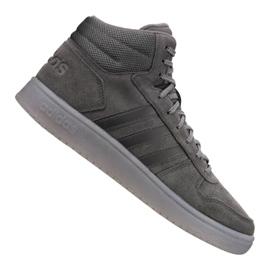 Grå Adidas Hoops 2.0 Mid M B44635 sko