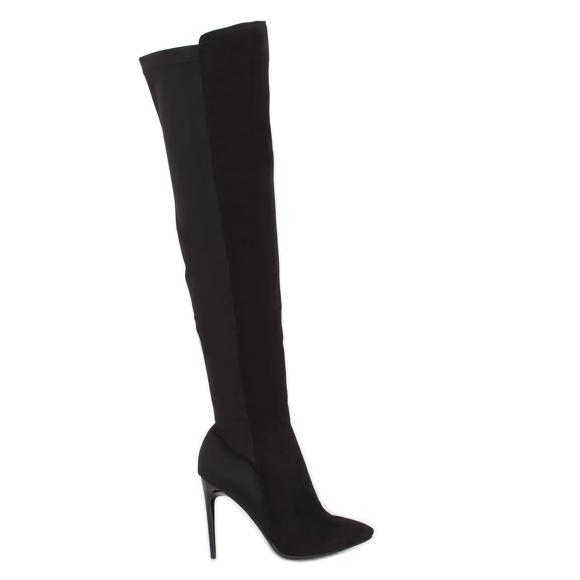 Sort lårhøj støvler sort 0H010 Sort