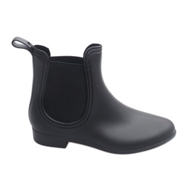 Korte Wellingtons med elastisk 608 Sort