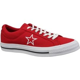 Converse One Star Ox sko M 163378C rød