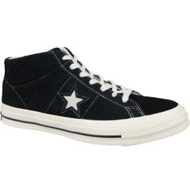 Converse One Star Ox Mid Vintage Suede M 157701C sko sort