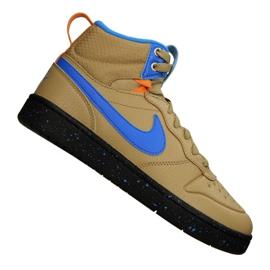 Nike Court Borough Mid Boot 2 (GS) Jr BQ5440-701 sko gul