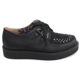 Sort Boots Creepers On Platform 061ss Black