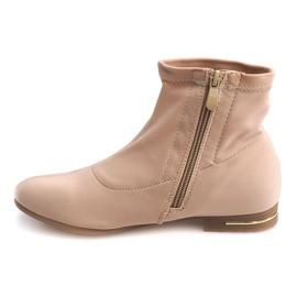 Elegante stofstøvler R105 Beige brun
