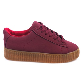 Rød Boots Creepers On Platform AM-1101 Red