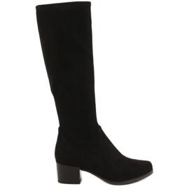 Caprice 25506 sorte stretch kvinders støvler