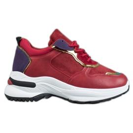 SHELOVET Casual Sneakers rød
