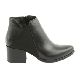 Sort Gamis 3815 læder høje hæle