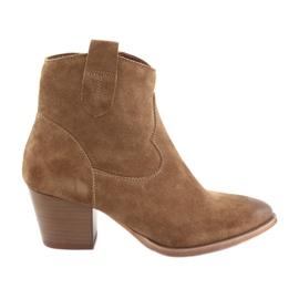 Anabelle 1466 Camel ruskind cowboy støvler brun