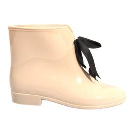 Brun GUL støvler med sløjfe Y015 Beige