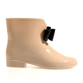 Brun GUL støvler med sløjfe Y014 Beige