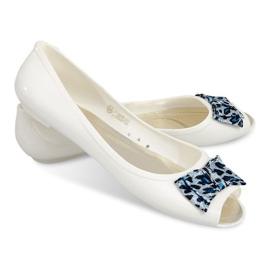 Ballerinaer med åben tå sandaler 092D hvid