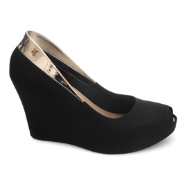 Meliski Open Wedge Heel S22 Sort