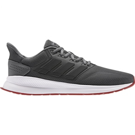 Grå Adidas Runfalcon M EE8153 løbesko