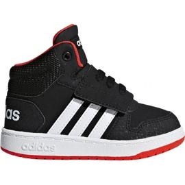 Sort Adidas Hoops Mid 2.0 I Jr B75945 sko