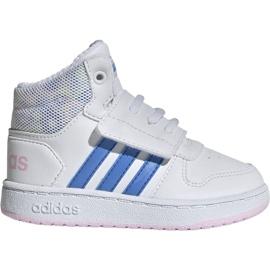 Hvid Adidas Hoops Mid 2.0 I Jr EE8550 sko