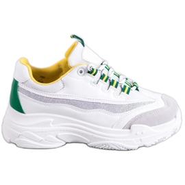 SHELOVET Hvide Sneakers Med Brocade
