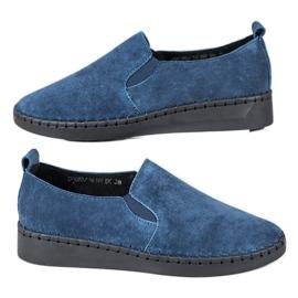 Filippo blå Læder Sneakers Slip On