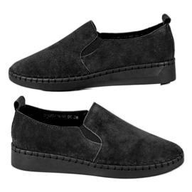 Filippo sort Læder Sneakers Slip On