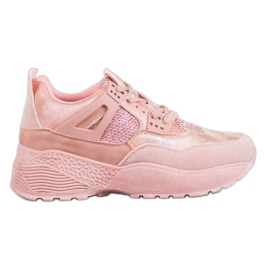 SHELOVET Pink Camo sneakers