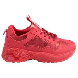 SHELOVET Røde Camo sneakers