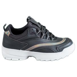 SHELOVET Moderigtige Sort Sneakers