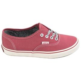 SHELOVET rød Behagelige sneakers