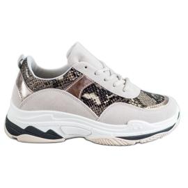 Kylie flerfarvede Snake Print sneakers