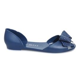 Navy Mørkeblå melissa sandaler med en Delmar bue